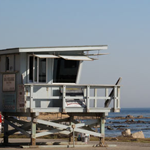 Life guard stand at Cabrillo Beach