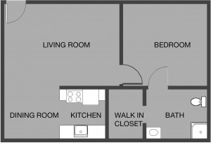 Large apartment layout at LCDM
