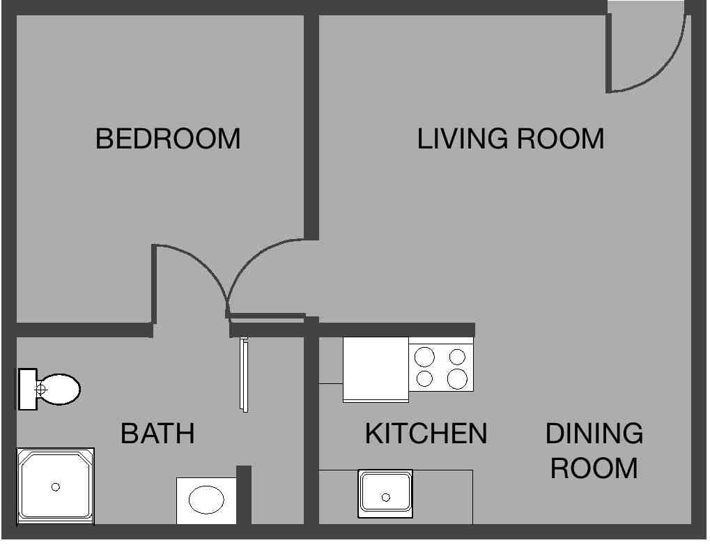 Small apartment layout at LCDM